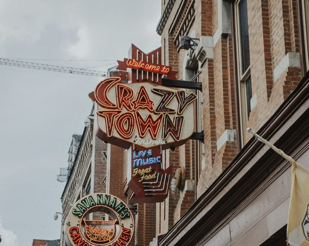 Crazy Town | The Ultimate Guide to Nashville's Lower Broadway | Her Life in Ruins