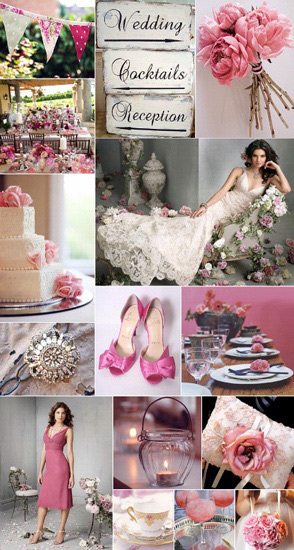 wedding-gray and pink