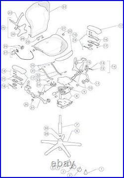 Herman Miller Aeron Chair Replacement Seat Pan 3D01