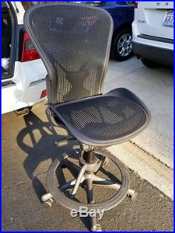 chair plus stool swivel galway herman miller aeron size b all features adjustable posture