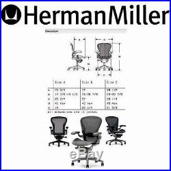 aeron chair manual burgundy covers wedding herman miller polished aluminum chrome base leather small size a new