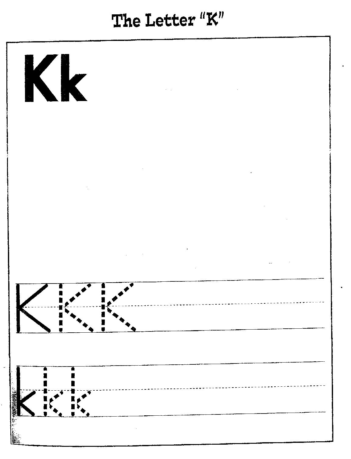 Search Results For Letter K Writing Sheet Calendar