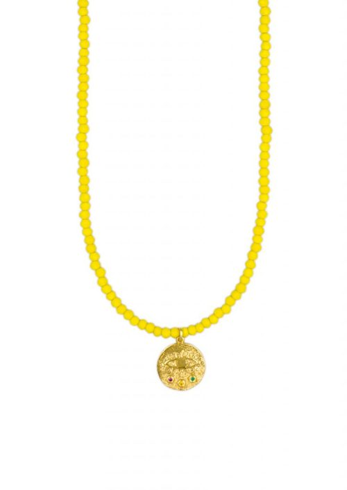 MINI KRESSIDA YELLOW CRYSTAL NECKLACE STYLELOVE