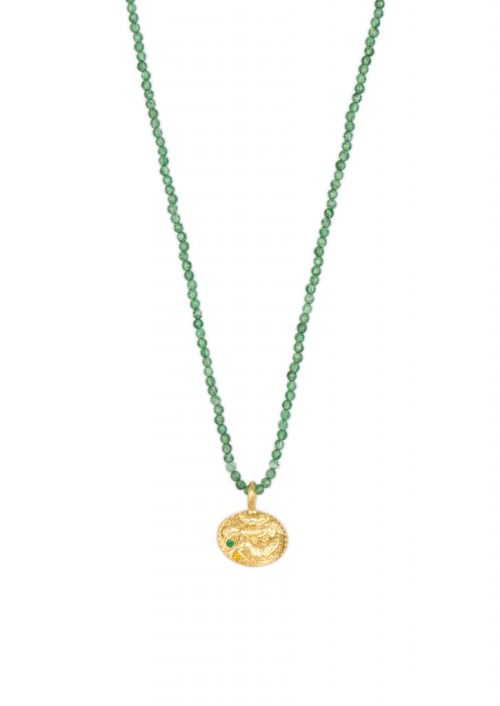 SEALSTONE ANIMAL EMERALD CRYSTAL NECKLACE STYLELOVE