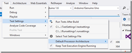 How to control the selection of test runner in TFS/VSTS