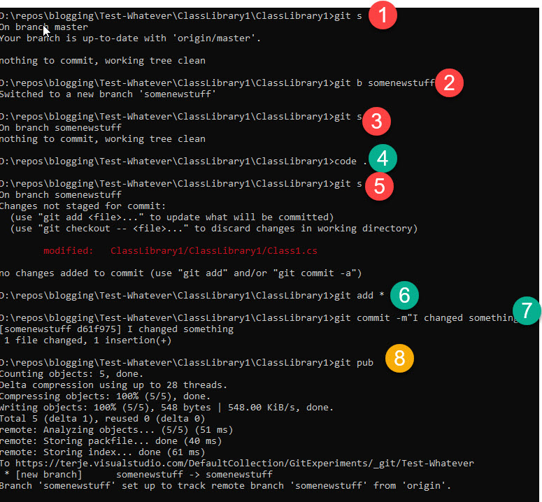 Visual Studio and Azure DevOps Git: Extend the git command