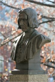 "ROGER WILLIAMS bust by MacNeil at ""Hall of Fame"" in Bronx Comm. College ~ Photo Credit: Librado Romero/The New York Times ( http://www.nytimes.com/imagepages/2009/12/05/nyregion/05metjournal2_ready.html )"