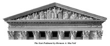 Hermon A. MacNeil's East Pediment on rear of Court