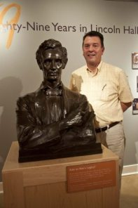Webmaster Dan Leininger visited the Spurlock exhibit of MacNeil's restored Lincoln Bust last week. (Tour and Photo courtesy of Holly Koreb).