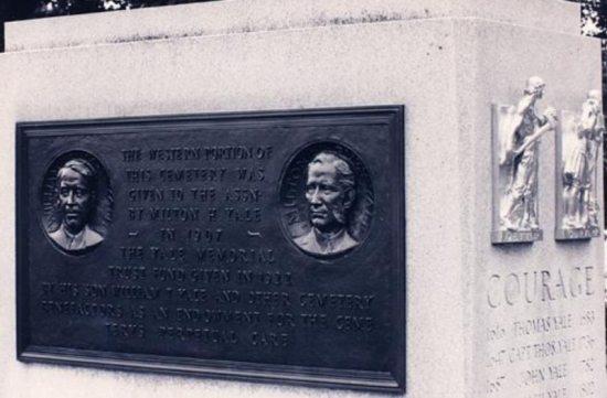 The Bronze Plaque commemorates the Yale ancestors