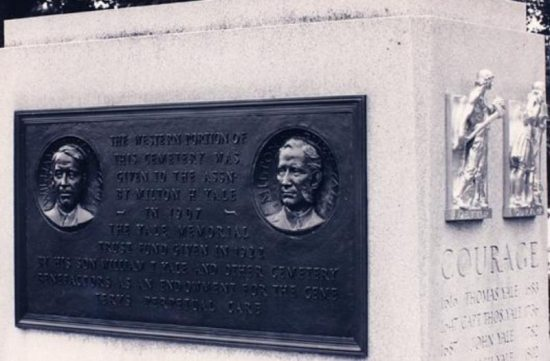 The Bronze Plaque commemorates the Yale ancestors