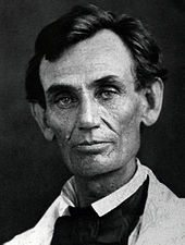 A 1958 photo of lawyer Abe Lincoln as he appeared at the time of the debates with Senator Stephen Douglas