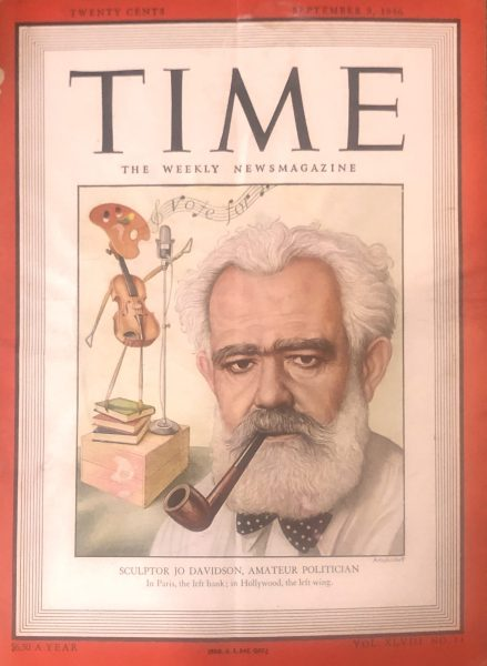 TIME Sept. 9, 1946. Jo Davidson Featured