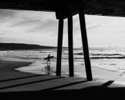 Hermosa Under Pier B&W 2 by Mike Hope