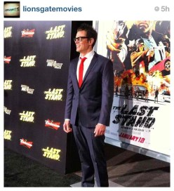 Johnny @realjknoxville gives the gang of photographers his good side before heading into #TheLastStand