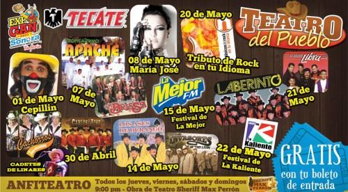 Cartelera del Teatro del Pueblo de la ExpoGan Sonora 2011