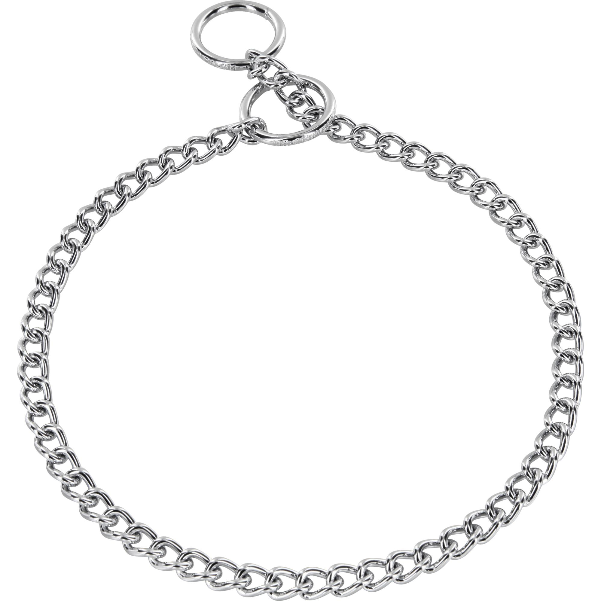 Collar Round Narrow Links Steel Chrome Plated 3 0 Mm