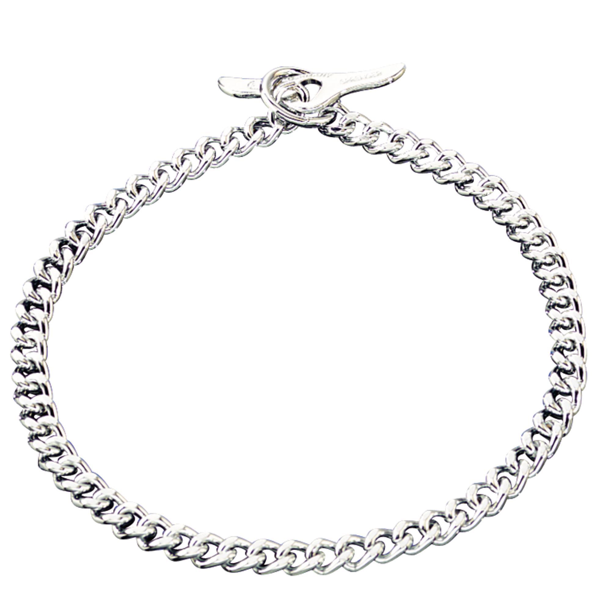 Collar With Toggle Closure Flat Polished Narrow Links