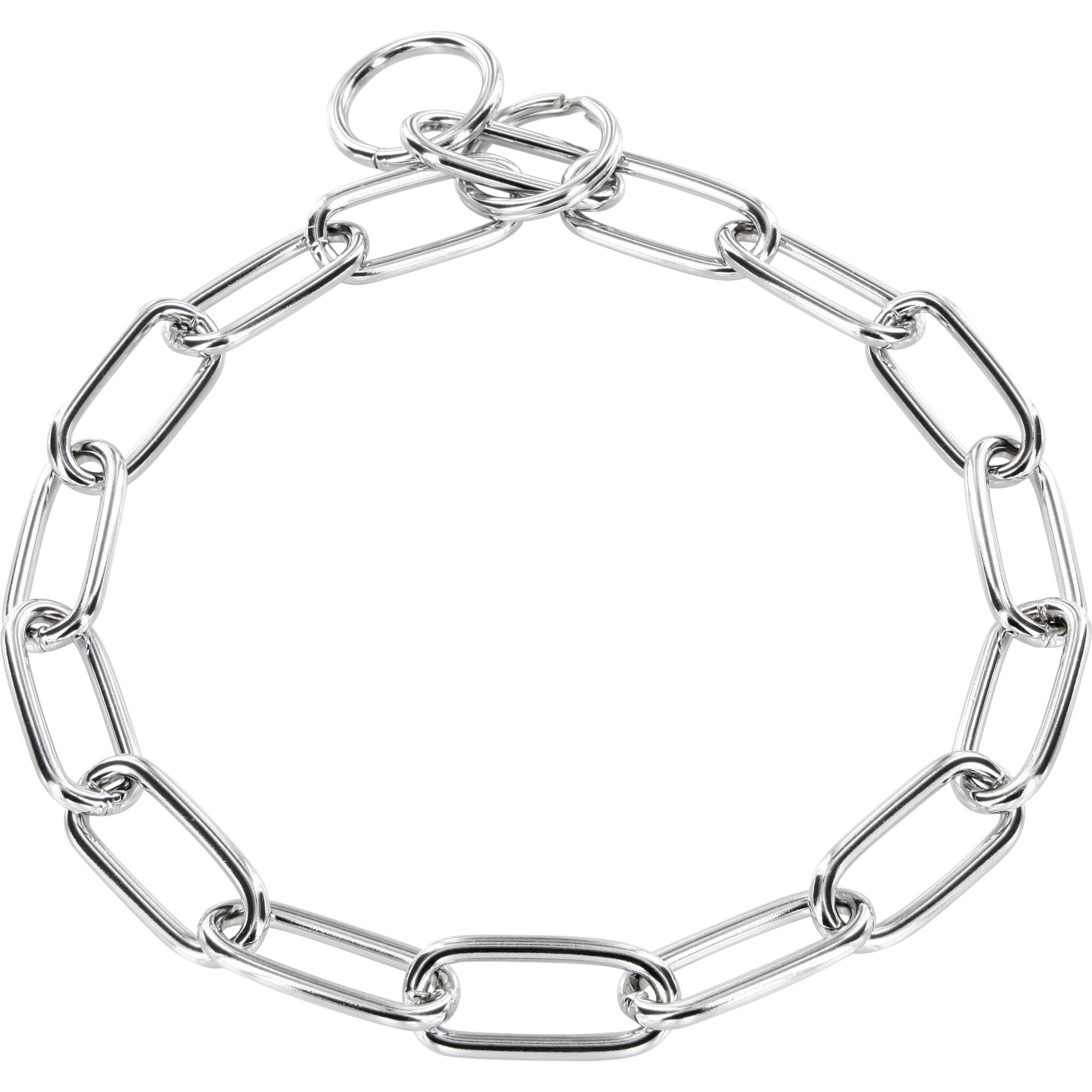 Collar Long Links With Key Ring Steel Chrome Plated 4