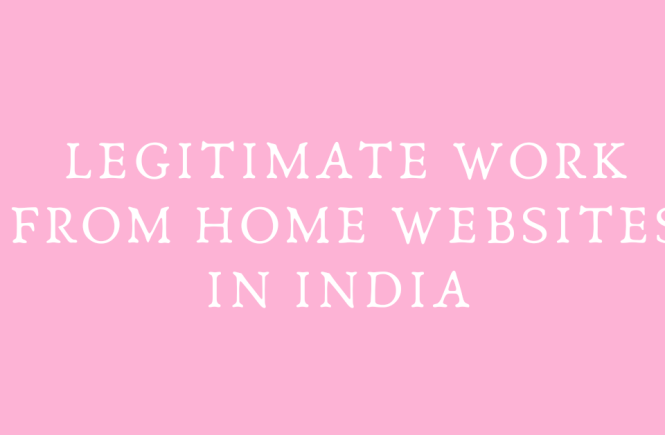 Legitimate work from home websites in India