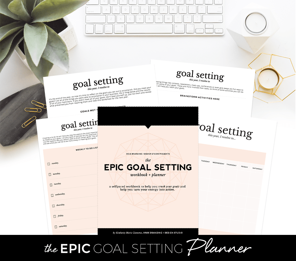 Epic Goal Setting Workbook And Planner