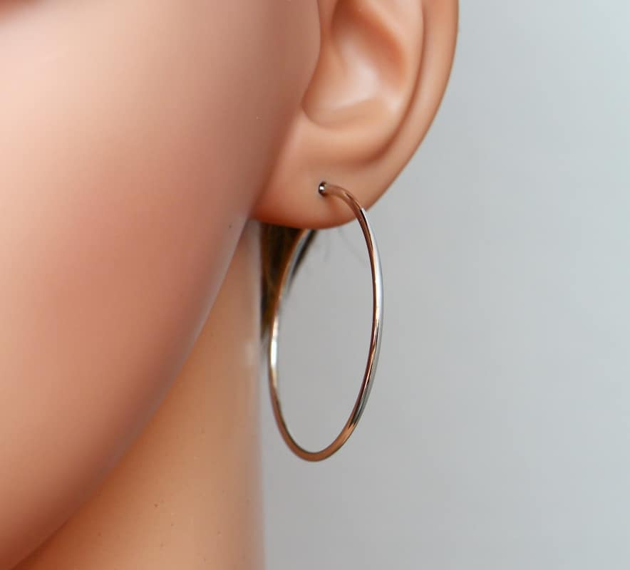 boucles d'oreilles créoles grande taille