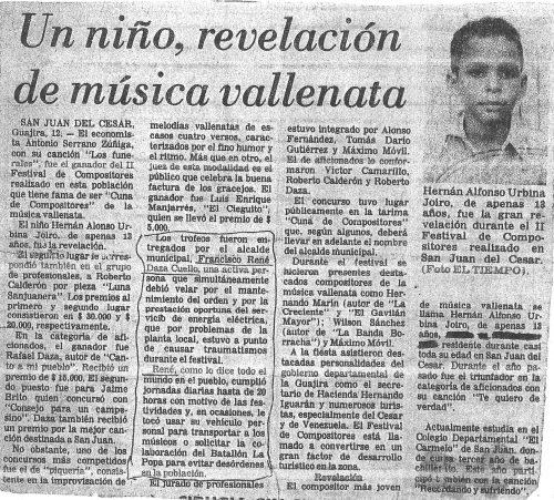 Del niño músico que llevo en mí | Hernán Urbina Joiro