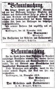 Bekanntmachungen des Amtes Sodingen, Repro Norbert Kozicki