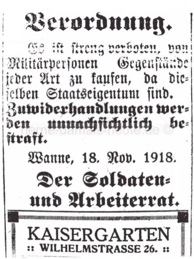 Verordnung des Soldaten- und Arbeiterrates, Repro Norbert Kozicki