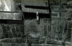 Baukauer Senfmühle, Inschrift Baujahr und Bauherr, Repro Gerd Biedermann