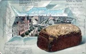 Gruß aus Herne, Postkarte, um 1900, Repro Stadtarchiv Herne