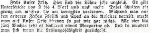 Bericht über Zeche Unser Fritz in der Bergarbeiterzeitung vom 10.03.1917, Repro Norbert Kozicki