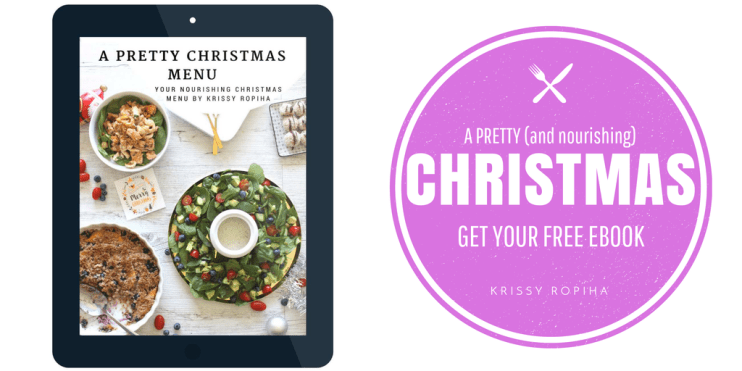 A pretty Christmas Menu