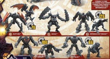 Transformers The Last Knight Infernocus Combiner Set Components