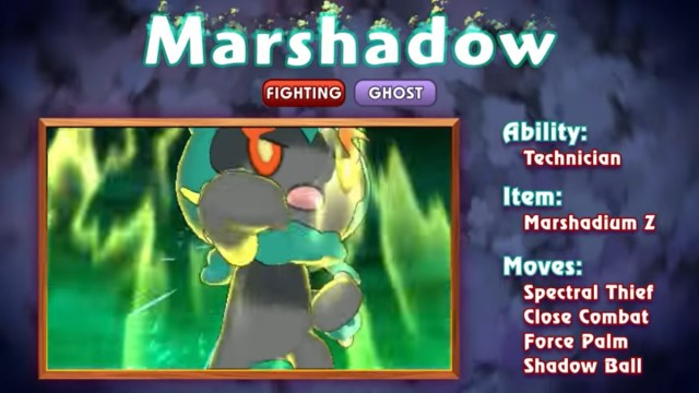 pokémon marshadow trailer streamed hero club