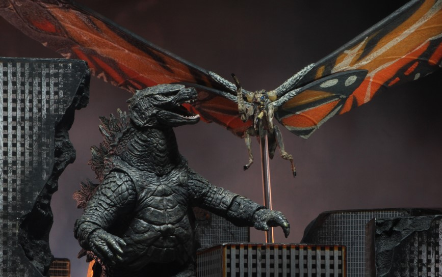 "BRAND NEW VERSION 1 TOGETHER 7/"" MOTHRA 2019 /& 7/"" RODAN, NECA GODZILLA"
