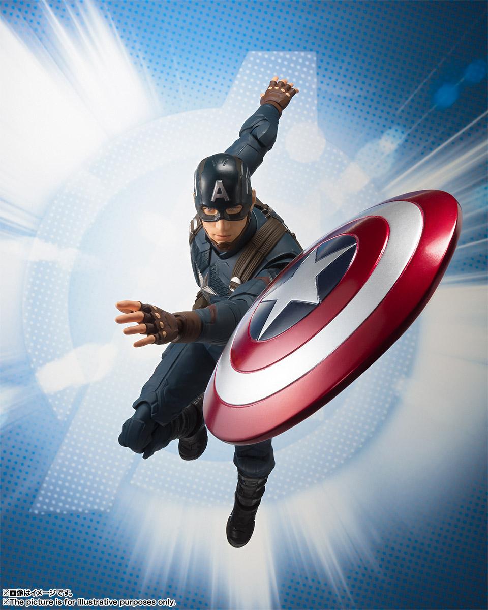 Hedendaags S.H.Figuarts Avengers Endgame Captain America 6 – Hero Club ET-44