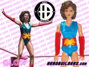GLOW Wrestling Custom Action Figures by: HeroBuilders