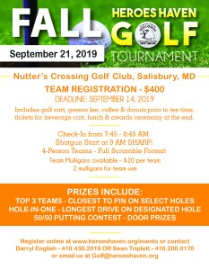 Heroes Haven 2019 Fall Golf Tournament – Heroes Haven