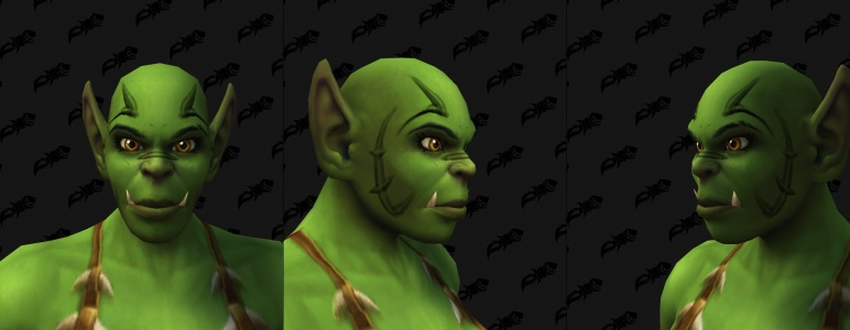 Face Tattoos - Female Orc 01