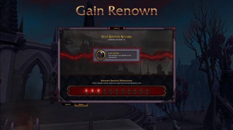 Gain Renown