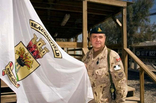 In the photo: Major Richard Gratton