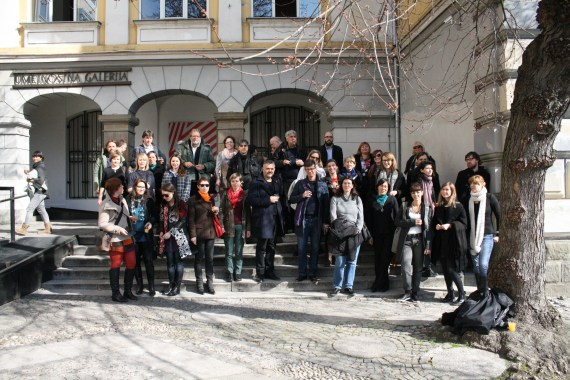 Art That Changes the World, conference group photo, Maribor, March 2015 (photo: Jure Kirbiš)