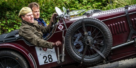 Gordon McCulloch and Peter Wallman in their Fraser Nash 'Shelsley' TT Replica on the Royal Automobile Club 1000 Mile Trial 2015