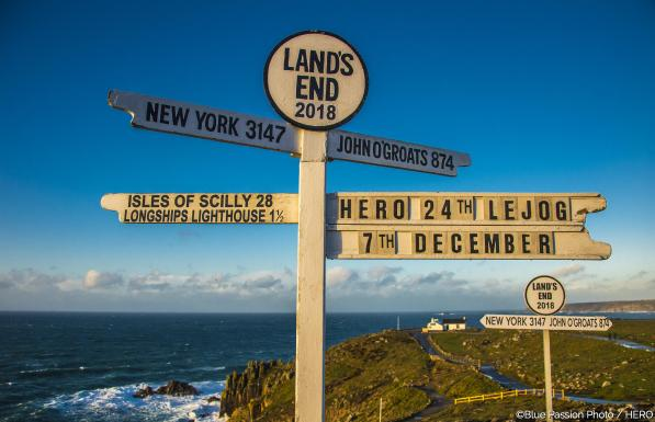 """Photos of HERO Lejog 2018 (8-11/12/2018). All rights reserved. Editorial use only for press kit about Lejog 2018. Any further use is forbidden without previous Author's consent. Author's credit """"©Photo Blue Passion"""" is mandatory"""