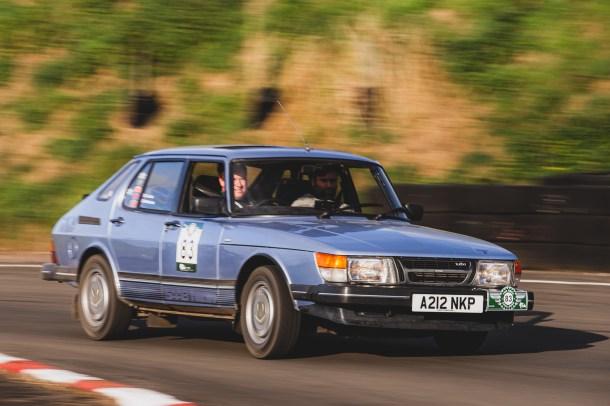 "Hero Challenge 3 2021, Bicester to Banbury. ""83 Alistair Leckie + Matt Outhwaite , SAAB 900 Turbo, 1984"""