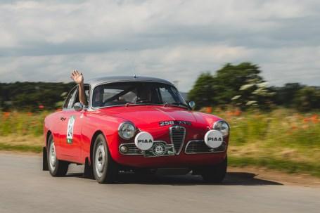 """HERO-ERA Challenge 2, Yorkshire Wolds 2021. """"24 - Nigel Woof - Sally Woof, Alfa Romeo Giulia Sprint"""""""
