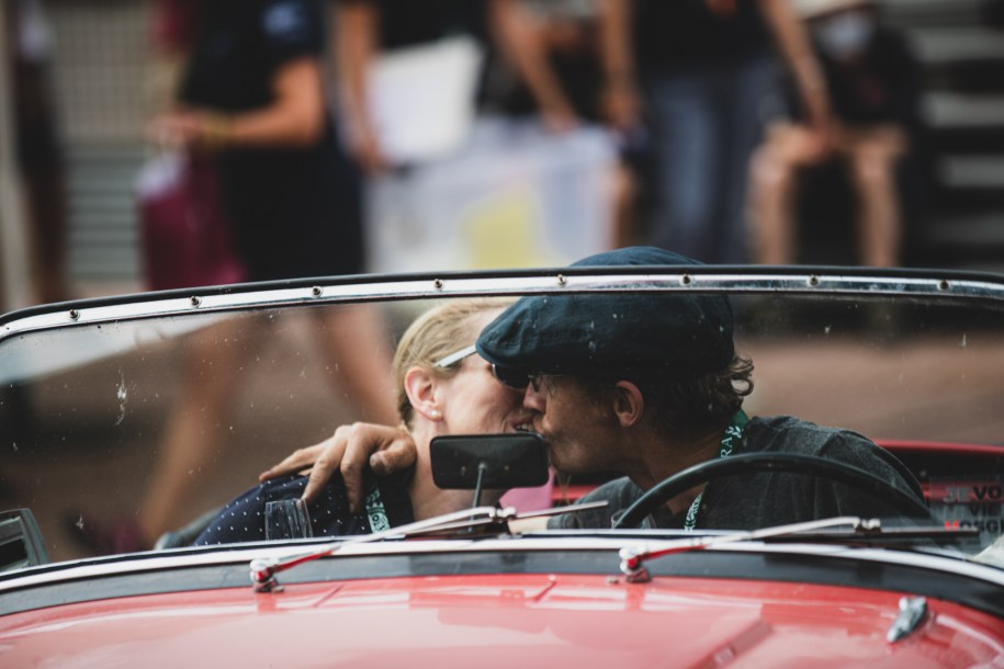 """HERO-ERA Classic Marathon 2021. """"17 Alexander Geigy + Joanna Geigy , Triumph TR 3A"""" The event that started the classic rallying scene back in 1988, travels through Northern Spain and Portugal in its latest incarnation."""