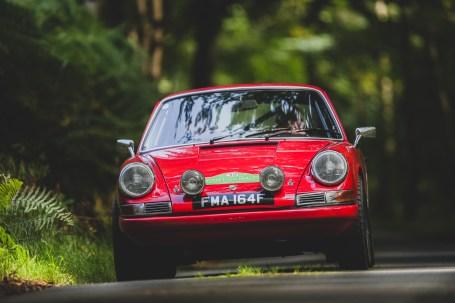 "Scottish Malts 2021, ""30 Jonathan Money + Phil Feast , Porsche 911s"" , Day 1 Dalmahoy Hotel & Country Club, Edinburgh, to Atholl Palace Hotel, Pitlochry."