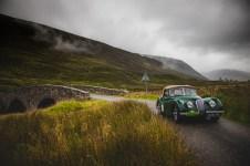 "Scottish Malts 2021, ""4 Peter Fletcher + Janet Fletcher , Jaguar XK120 dhc"", day 2, Atholl Palace Hotel, Pitlochry to Kingsmills Hotel, Inverness."